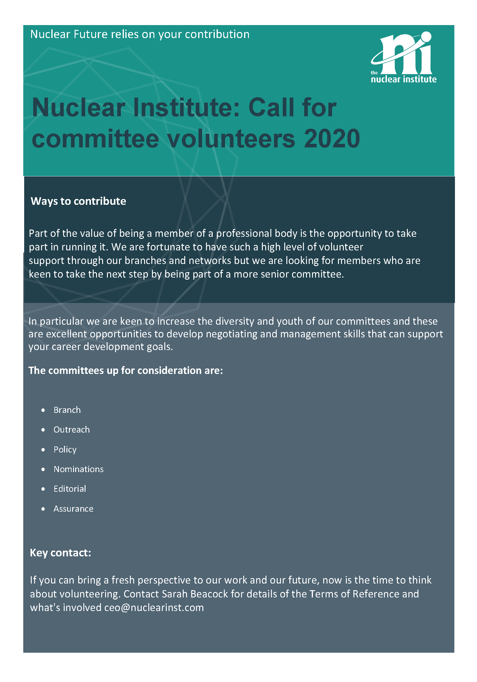 Call for Committees flyer 2020 (1)