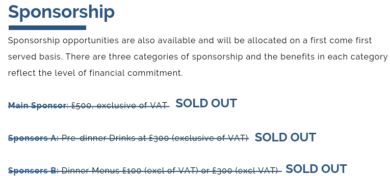 SOLD OUT SPONSORSHIP