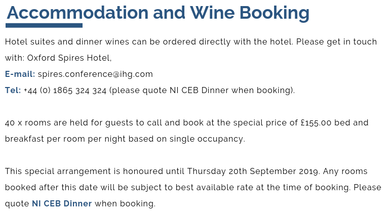 accomodation and wine booking