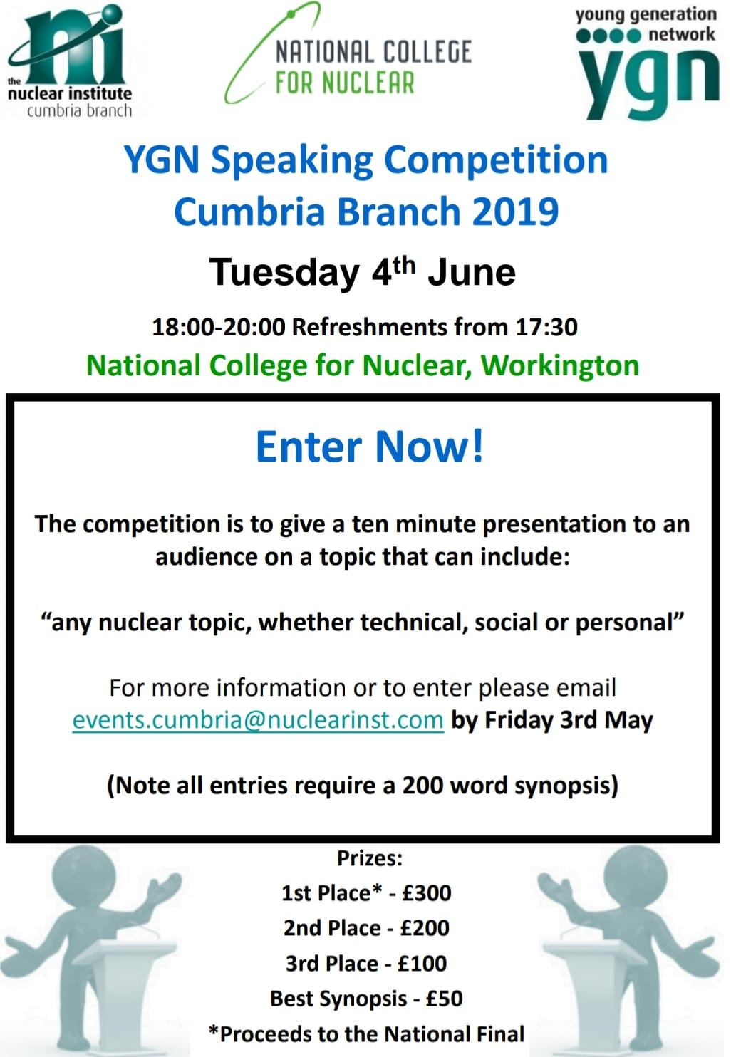 YGN Cumbria Branch - Young Speakers Competition