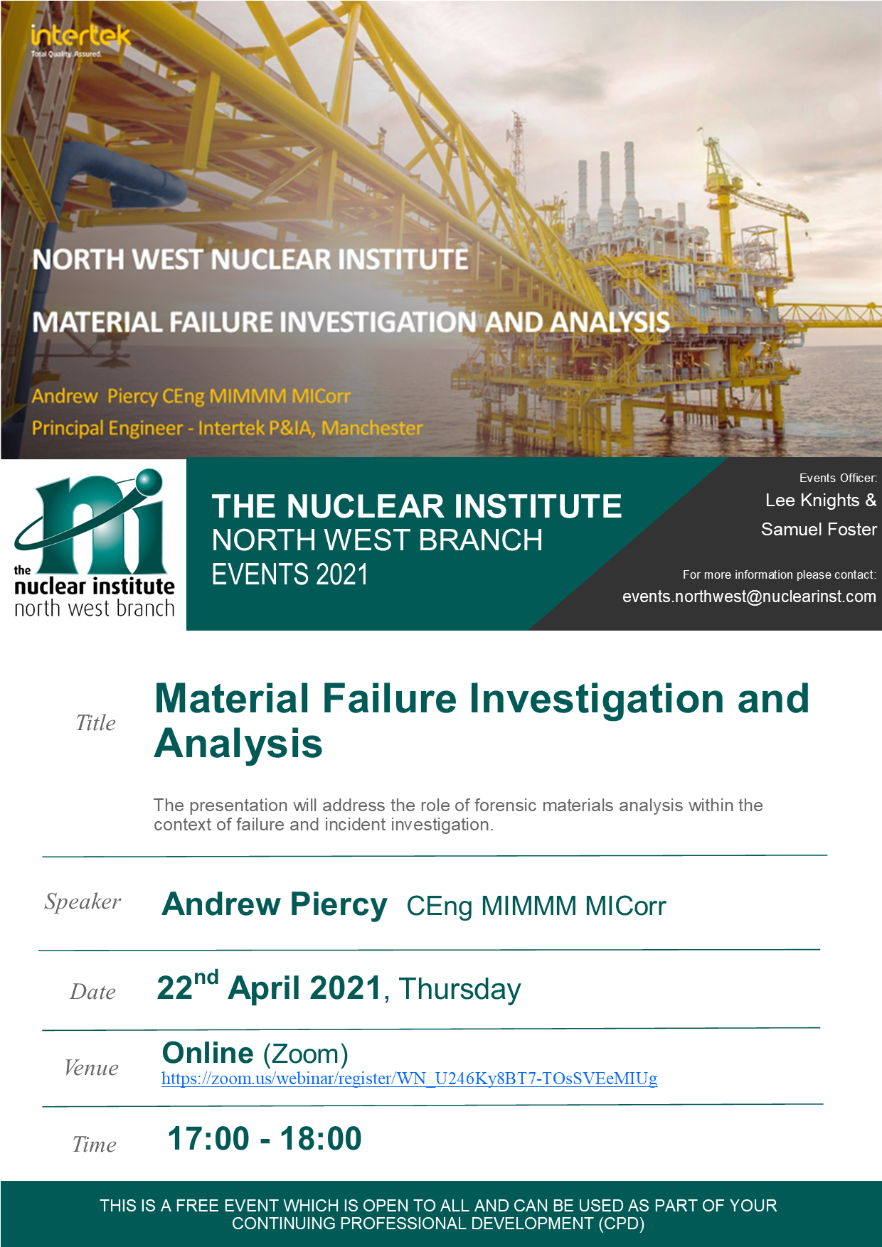 NWNI Material Failure Investigations and Analysis