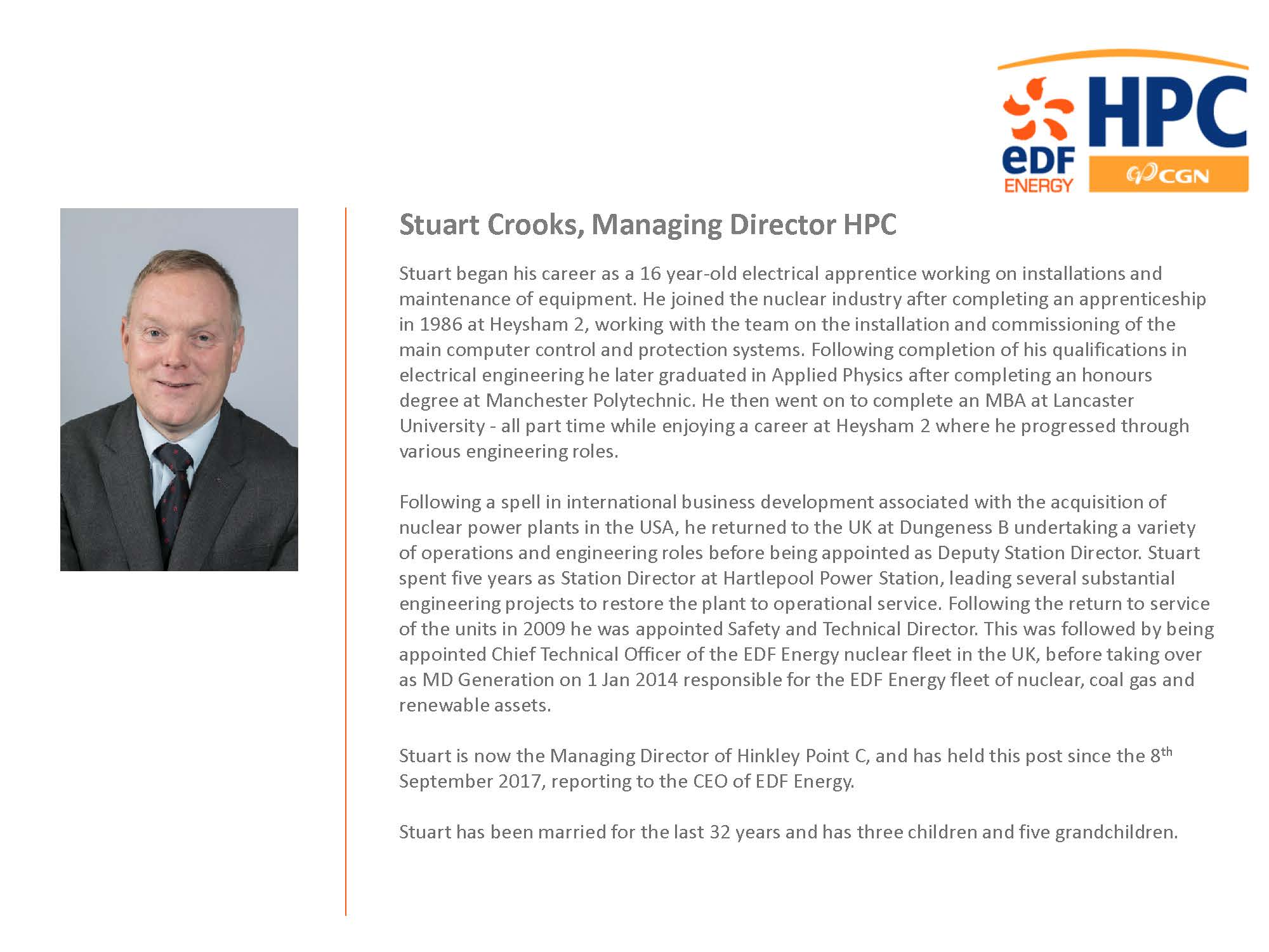 Stuart Crooks Biography March 2019